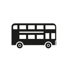 school bus black icon vector image