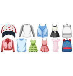Set costume objects vector