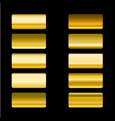 set of gold gradients design elements vector image