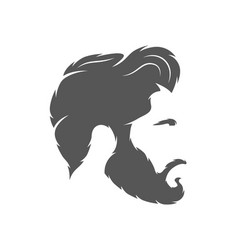 Silhouette of a hairstyle isolated on white vector