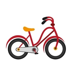 single red bike icon vector image