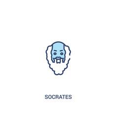 Socrates concept 2 colored icon simple line vector