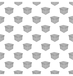 Square box seamless pattern vector