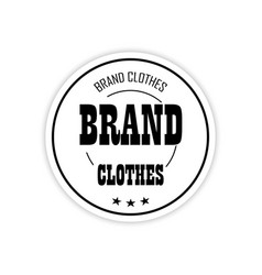 the logo brand clothing on a white background vector image