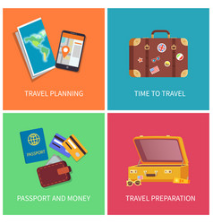 travel planning posters set vector image