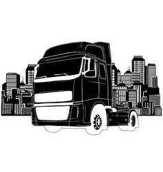 Truck trailer types design art vector