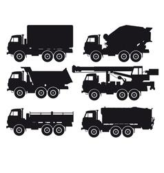 Types of trucks vector