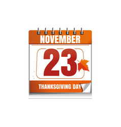 usa thanksgiving day 2017 vector image