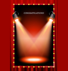 vertical frame with lights vector image