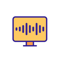 Voice control icon isolated contour symbol vector