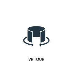 Vr tour icon simple element vr tour vector
