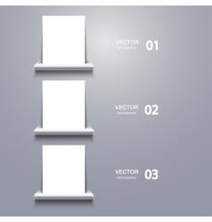 White blank on shelf Infographic vector