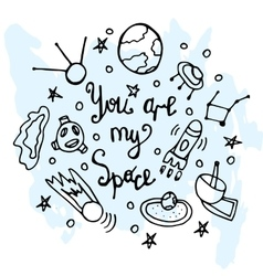 Youre my sign lettering liner vector image