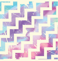 Zig zag pattern on watercolour vector