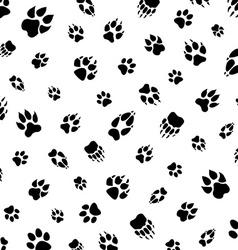 animal footprint pattern vector image vector image