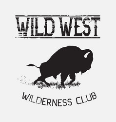 buffalo wild west vector image vector image