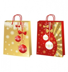 christmas bags vector image vector image