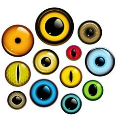 eye set vector image vector image