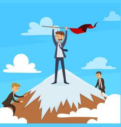 successful career design concept vector image