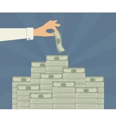 Banking deposits vector image vector image