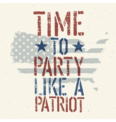 patriot party vector image vector image