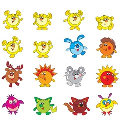 fantastic characters vector image vector image