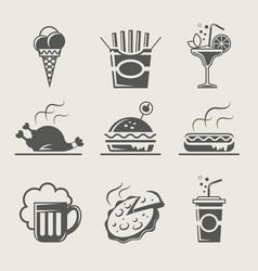 fast food and drink vector image vector image