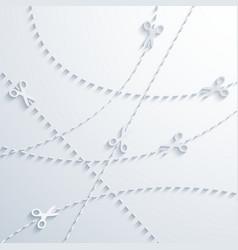 modern scissors background vector image