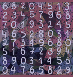 abstract seamless pattern numbers and grunge vector image vector image