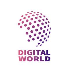 digital global technology concept vector image vector image