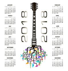 guitar tree design 876 vector image