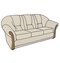 light sofa vector image vector image