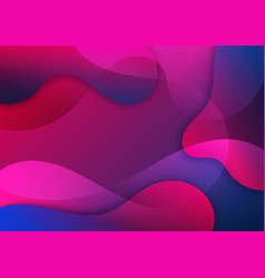 abstract pink and blue gradient waves shape vector image