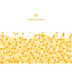 Abstract yellow geometric triangle structure vector
