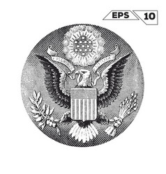 American eagle on one usa dollar bill vector