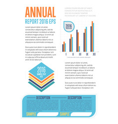 Annual report template with diagram vector
