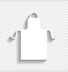 Apron simple sign white icon with soft vector