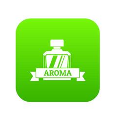 Aroma icon green vector