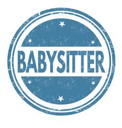babysitter grunge rubber stamp vector image