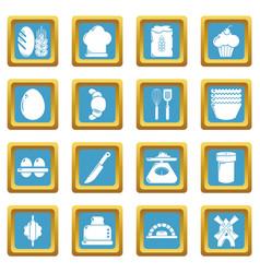 Bakery icons set sapphirine square vector