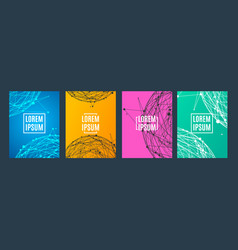 banner card placard set with abstract sphere vector image