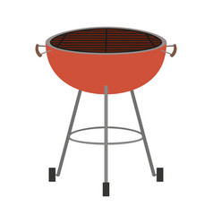 bbq grill front view colorful silhouette vector image