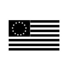 betsy ross flag an early design united states vector image