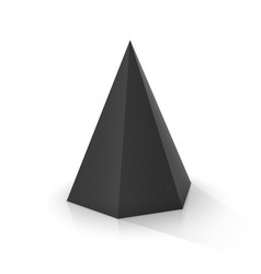 black hexagonal pyramid vector image
