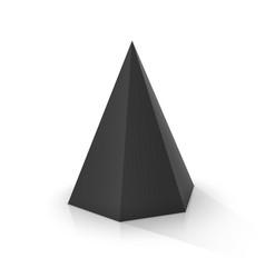 Black hexagonal pyramid vector