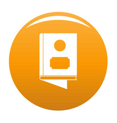 book icon orange vector image