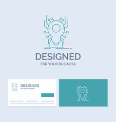 Bug insect spider virus app business logo line vector