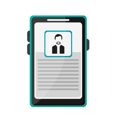 Businessman profile on smartphone screen vector