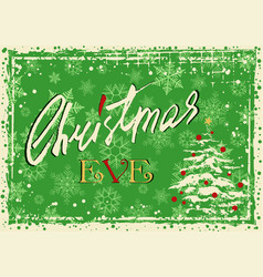 christmas eve greeting card vector image