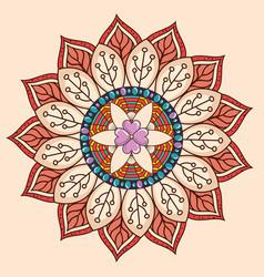 color mandala decorative icon vector image